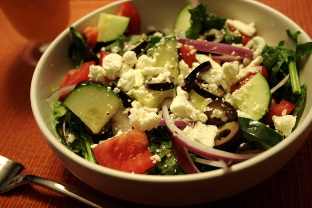 Greek Salad with Dressing Recipe