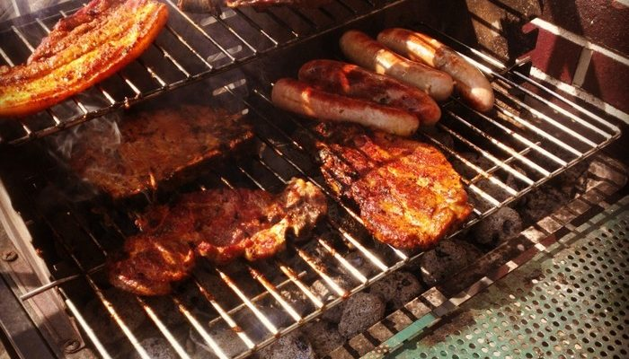 Grilled Herb-Rubbed, Bone-In Pork Chops