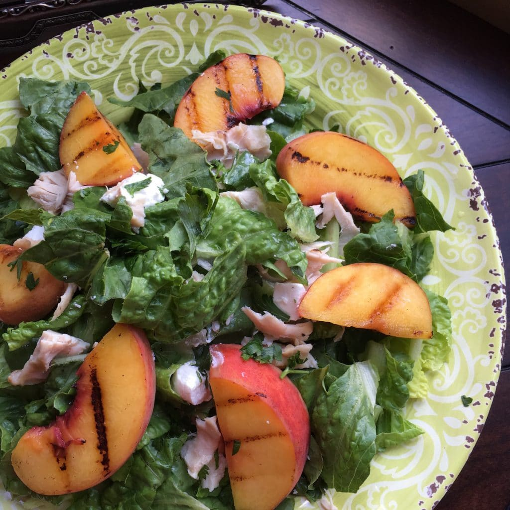 Semi-Low Carb Grilled Peach Salad