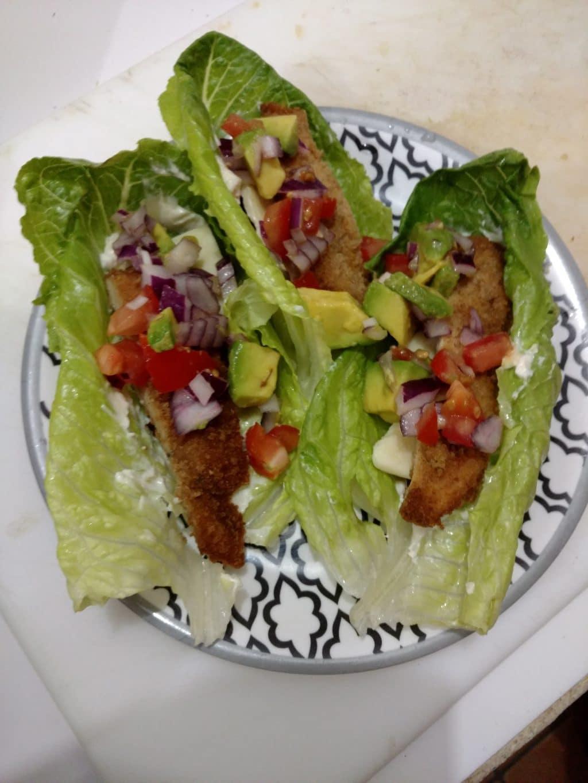 Making Lettuce Tacos for Dinner