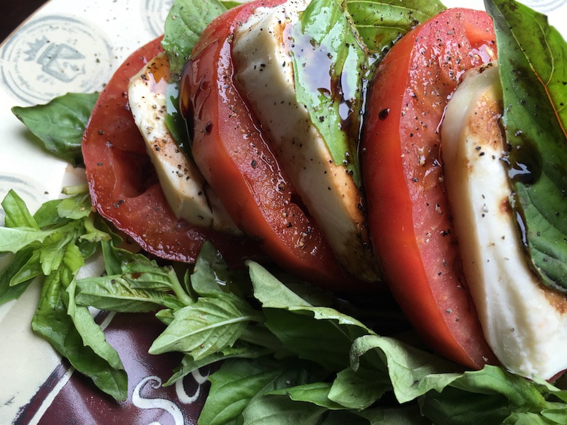Summer Time Classic Caprese Salad With Balsamic Dressing