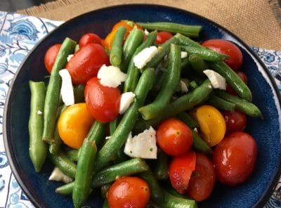 Healthy Green Bean And Tomato Salad with Feta