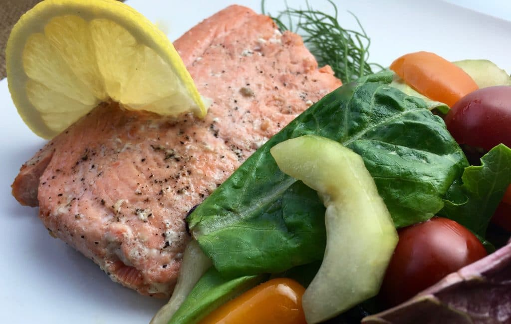 Lemon and Dill Salmon with A Fresh Herb Salad