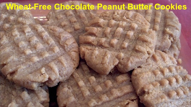 Wheat-Free Chocolate Peanut Butter Cookies