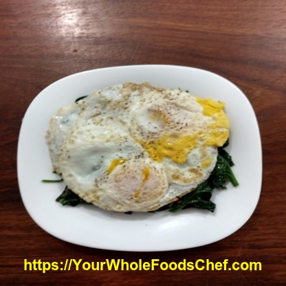Spinach And Eggs For A Quick Keto Breakfast