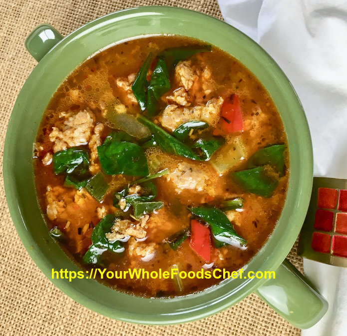 How To Make Keto-Friendly Sausage Soup with Peppers