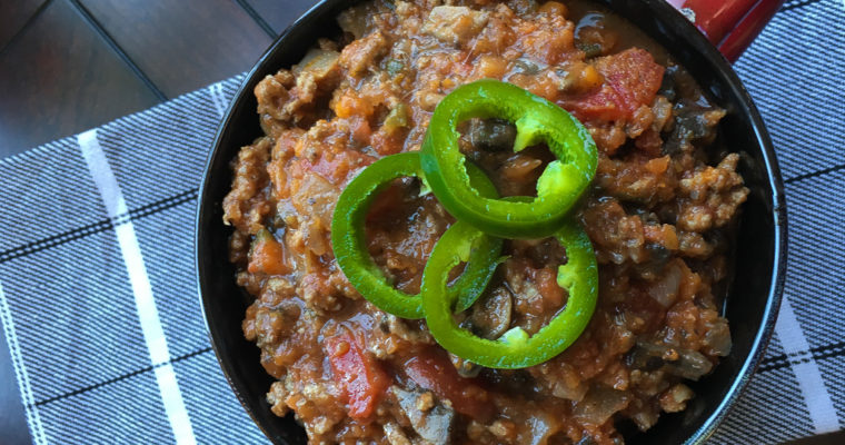 Keto Friendly Beef and Mushroom Chili