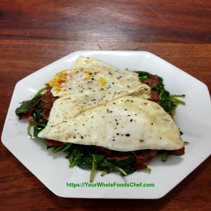 Keto Spinach And Eggs Breakfast