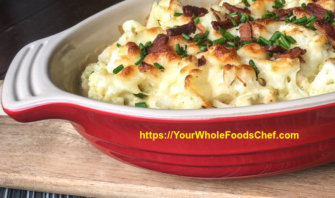 Keto Fully-Loaded Cauliflower Au Gratin