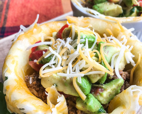 Keto Taco Mini-Bowls with Avocado Salsa
